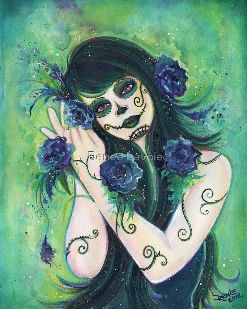 Adelita Day of the Dead By Renee Lavoie by Renee Lavoie
