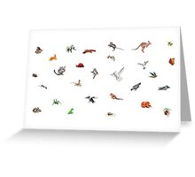Australian animals Greeting Card