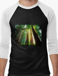 Northern California,Humboldt County And Redwood Trees Men's Baseball ¾ T-Shirt