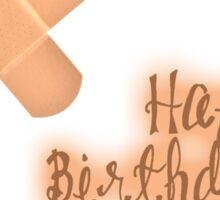 Happy Birthday - Band-aid Sticker