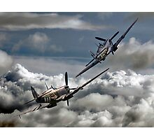 RAF WW2 Spitfire Tailchase Photographic Print