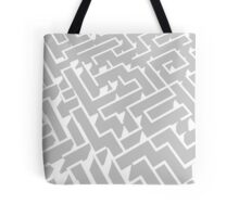 grey and white labyrinth pattern Tote Bag