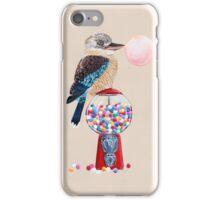 Bird gumball machine Kookaburra iPhone Case/Skin