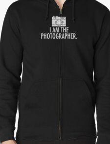 I Am The Photographer logo Zipped Hoodie