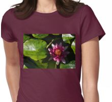 Vivid Magenta Lotus Bloom Womens Fitted T-Shirt