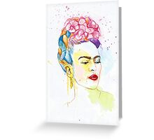 Frida Kahlo Inspired Drip painting Greeting Card