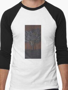 Tree Silhouette Men's Baseball ¾ T-Shirt