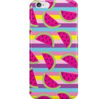 Summer Watermelon Stripes iPhone Case/Skin