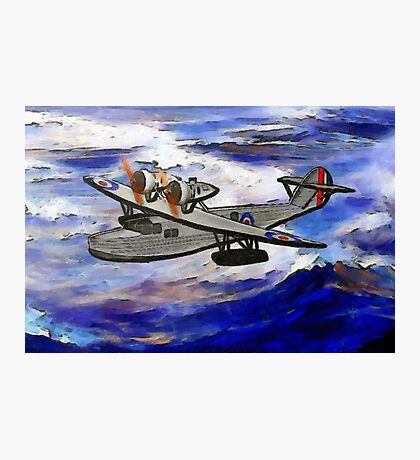 A digital painting of A Saro Cloud A29 of the Royal Air Force Photographic Print