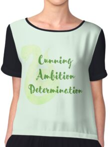 Slytherin - Cunning, Ambition, Determination Chiffon Top