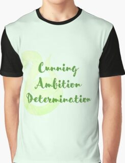Slytherin - Cunning, Ambition, Determination Graphic T-Shirt