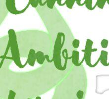 Slytherin - Cunning, Ambition, Determination Sticker