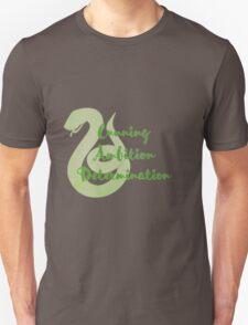 Slytherin - Cunning, Ambition, Determination T-Shirt