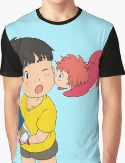 Sweet Ponyo Kiss Graphic T-Shirt