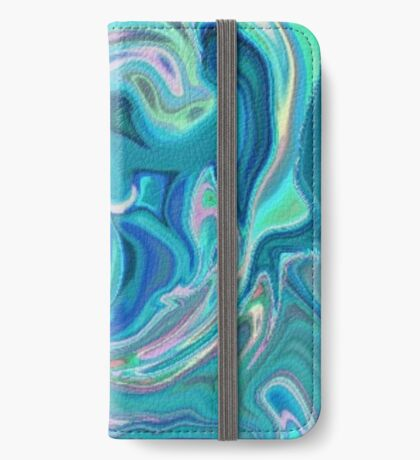 Blue Holographic Pattern iPhone Wallet/Case/Skin