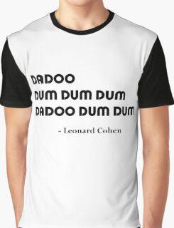 Leonard Cohen's Answer Graphic T-Shirt