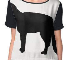 the Fox icon on black background,vector illustration Chiffon Top