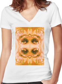 Eyes of a Mirror Women's Fitted V-Neck T-Shirt
