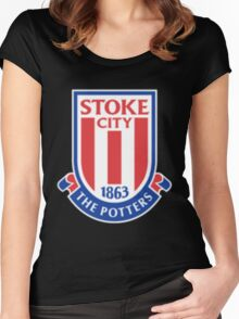 Stoke City F.C. Women's Fitted Scoop T-Shirt