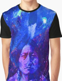 Sitting Bull-Cosmic Stars Graphic T-Shirt