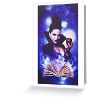 The Evil Queen's Spell book Greeting Card