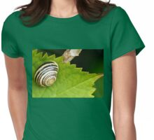 A Shiny Snail..........Dorset UK Womens Fitted T-Shirt