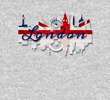 London Skyline British Flag Art Unisex T-Shirt