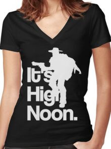It's High Noon Women's Fitted V-Neck T-Shirt