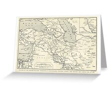 Vintage WW1 Map - Theatre Of British Military Operations Greeting Card