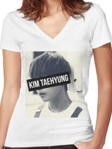 BTS: V - Kim Taehyung Women's Fitted V-Neck T-Shirt