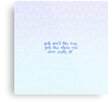 Girls Like Aliens and Dana Scully [BLUE] Metal Print