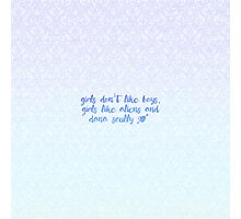 Girls Like Aliens and Dana Scully [BLUE] Photographic Print