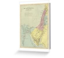Vintage Map Of The Sinai Peninsula (Early 20th Century) Greeting Card
