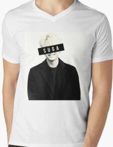 BTS: SUGA Mens V-Neck T-Shirt
