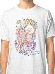 Abstract mandala flowers Classic T-Shirt