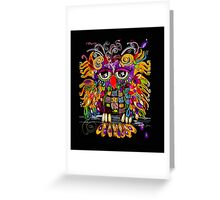 Owlsa the Colorful Owl Greeting Card