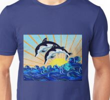 DOLPHIN SUNSET Unisex T-Shirt