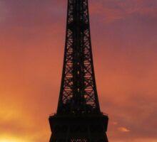 Eiffel tower right after sunset   Sticker
