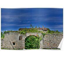 Derelict Italian Farmhouse Walls Poster