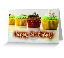 Happy Birthday - Cupcake 04 Greeting Card
