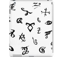 Shadowhunters runes (black and white) iPad Case/Skin