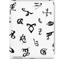 Shadowhunters runes (black and white) iPad Case/Skin