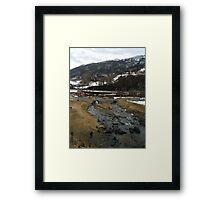Snow River Framed Print