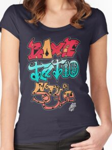Boxe Tatoo Style Women's Fitted Scoop T-Shirt