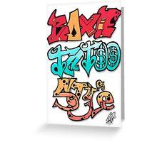 Boxe Tatoo Style Greeting Card