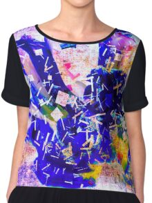 Shattered Blues Chiffon Top