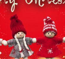 Merry Xmas - Felt & knitting Sticker