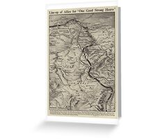 Vintage WW1 Map - A Good Strong Heave Greeting Card