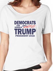 Democrats for Trump Women's Relaxed Fit T-Shirt
