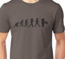 Evolution with minecraft Unisex T-Shirt